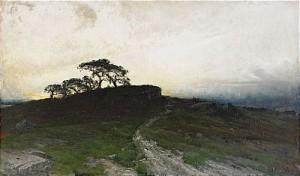 Aftonstämning över Hedlandskap by Arvid Mauritz LINDSTRÖM