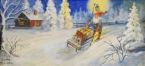 Tomte Med Julklappar by Jenny NYSTRÖM