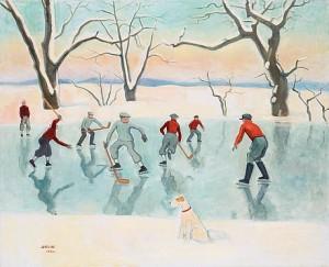Hockeyspelare by Einar JOLIN