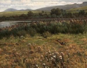 Landskap Med Lyftande änder by Alfred WAHLBERG