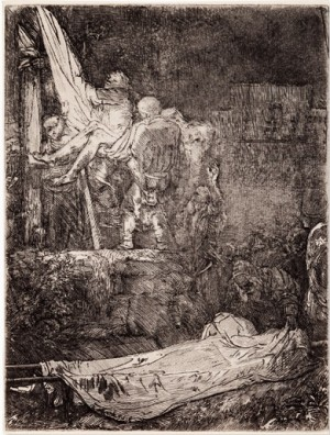 The Descent From The Cross At Night by Rembrandt Harmenszoon Van RIJN