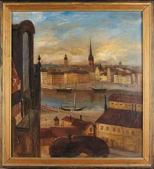 Utsikt Från Zorns Ateljé, Stockholm by Åke JOHANSSON