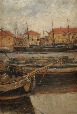 Port Scene: St. Petersburg by Ilia Jevgeninitch VERCHININ