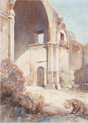 Mission San Luis Rey, California by Carl Oscar BORG