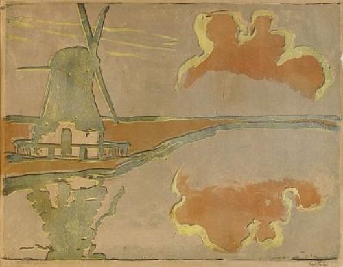 Mühle Am Wasser by Emil NOLDE