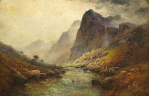 The Crags Of Ben Venne Trossachs by Alfred Fontville De The Younger BREANSKI