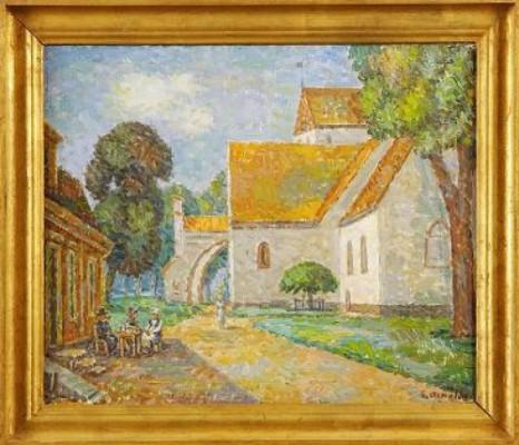 Kyrkan I Ronneby by Gustaf ARNOLDS