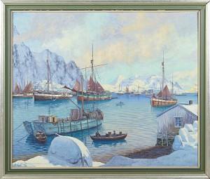 Motiv Från Svolver Lofoten by Alfred COLLIN