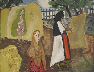 Kvinnor Vid Hässja by Sven 'X:et' ERIXSON