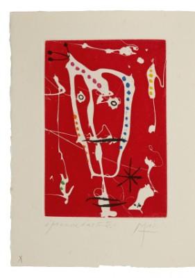 Frontispice Pour Les Brisants De Jacques Dupin. G.l.m. éditeur, Paris 1958 by Joan MIRO