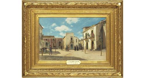 Torg I Taormina (sicilien) by Carl SKÅNBERG
