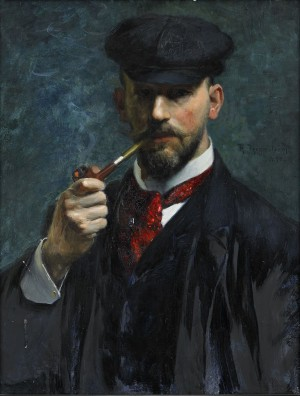 Självporträtt Med Pipa by Robert THEGERSTRÖM