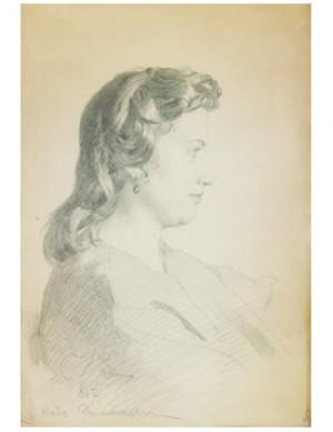 Portrait Of Nadia Polezhaeva by Ilya Efimovich REPIN