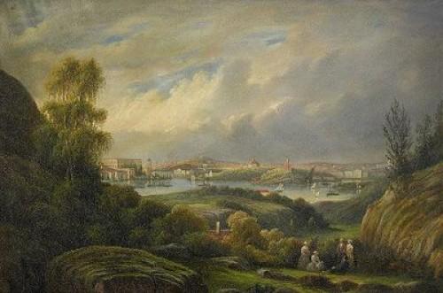Stockholmsvy Från Fåfängan by Ernfried WAHLQUIST