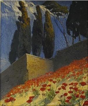 Vallmosluttning - Sydfrankrike by Alf WALLANDER