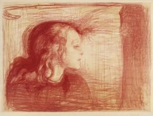 The Sick Child I, (det Syke Barn I) by Edvard MUNCH