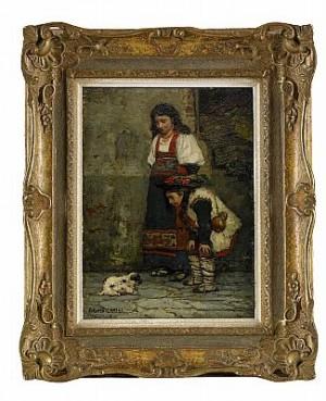 Gatumotiv Från Paris by Carl Gustaf HELLQVIST