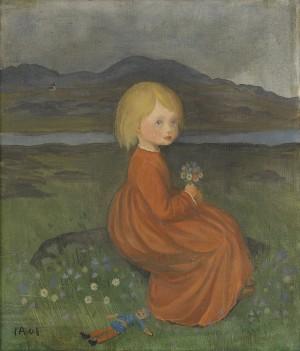 Lillan På ängen (porträtt Af Min Dotter) by Ivar AROSENIUS
