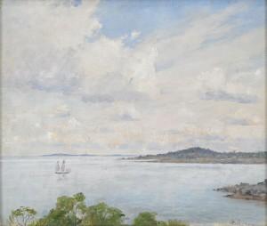 Kustmotiv Från Gävle Fjärden by Axel LINDMAN