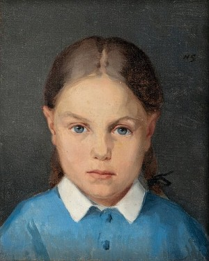 Girl With Braids by Helene SCHJERFBECK