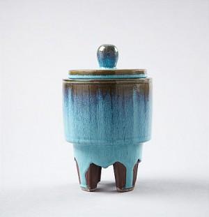 Urna, Med Lock, Gustavsberg by Wilhelm KÅGE