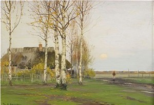Landscape With Cottage by Richard Alexandrovich BERGHOLZ