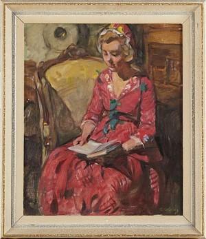 Läsande Dalkulla by Elsa CELSING-BACKLUND
