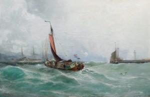 Båtar Vid Hamninlopp by Christian Fredrik SWENSSON