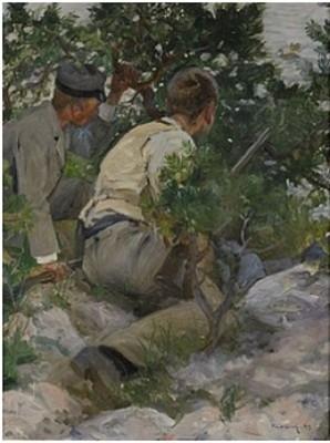 Unga Jägare - Andjakt by Paul GRAF