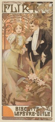 Flirt by Alphonse MUCHA