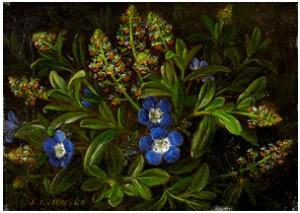 Blomsterstilleben by Johan Laurentz JENSEN