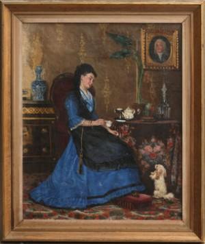 Damen I Blått by Sophie SÖDERGREN