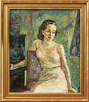 Kvinnoporträtt by Reinhold KALNINS