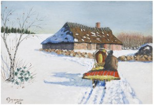 Winter Landscape With Sleigh by Andrei Afanasievich YEGOROV