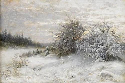 Vinterlandskap, Uppland by Charlotte WAHLSTRÖM