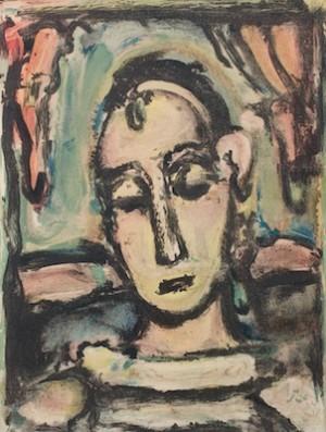 Tete D'une Jeune Fille by Georges ROUAULT