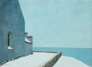 Vinterdag Vid ödekyrkan, Hven by Emil 'E. J-Thor' JOHANSON-THOR
