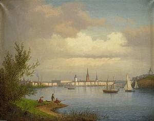 Riddarfjärden - Stockholm by Carl Abraham ROTHSTÉN
