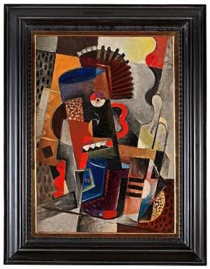 Kubistisk Komposition by Gösta 'Gan' ADRIAN-NILSSON