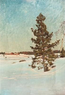 A Sunny Winter Landscape by Edvard WESTMAN