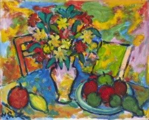 Still Life With Flowers And Fruit by Henri SERT