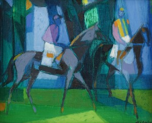 Jockeys by Camille HILAIRE