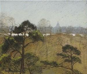 Utsikt Mot Katarina Från Djurgården by Eugène JANSSON