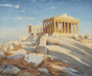 View Over The Acropolis by Mikhail Filippovich IVANOV