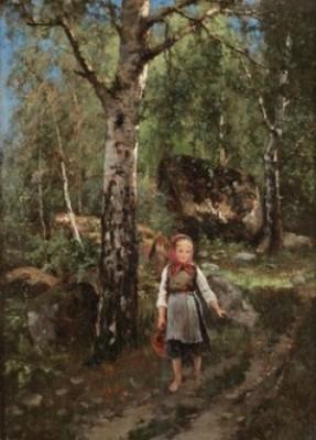 Flicka I Skogsbryn by Severin NILSON
