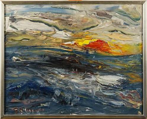 Solnedgång by Helmut MANTEL