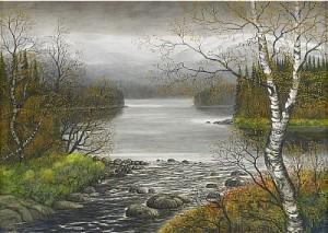 Norrländskt Landskap by Per JULIUS