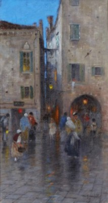 Venetiansk Gatuscen by Wilhelm Von GEGERFELT