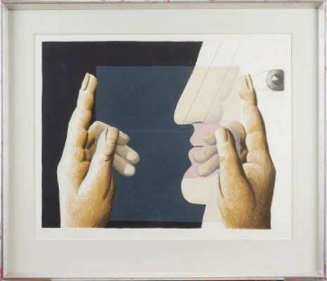 Antes, Hände Mit Scheibe by Horst ANTES