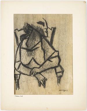 Figuralt Motiv, Passepartout Daterad Florens 1949 by Lucio Del PEZZO